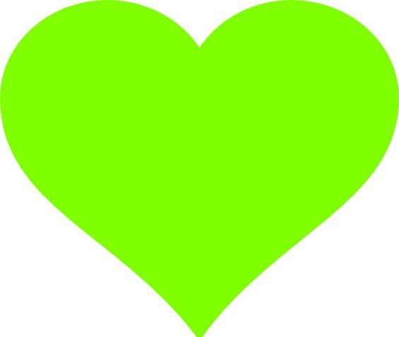 Image Gallery neon green hearts