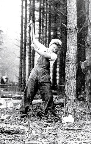 There were 8,700 women recruited as Lumberjills during the Second World War and it was 2008 before they received any recognition for their role