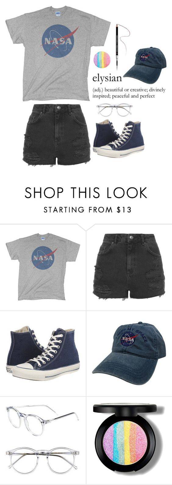 """""""grace"""" by farisahkhan ❤ liked on Polyvore featuring Topshop, Converse, Wildfox and Givenchy"""