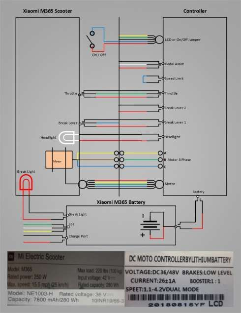 Electric Scooter Wiring Diagram Owner S Manual And Xiaomi M Scooter Diagram Schematic Im In 2020 Electrical Wiring Diagram Electric Scooter Electronics Mini Projects