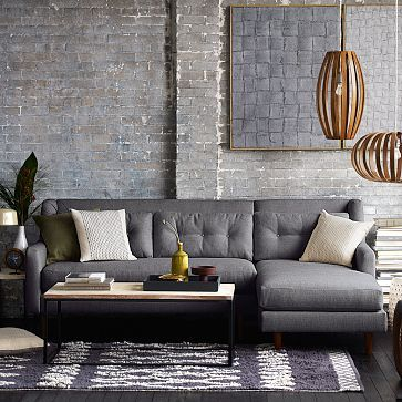 Crosby 2-Piece Chaise Sectional #westelm left arm chaise might be too large but : crosby 2 piece chaise sectional - Sectionals, Sofas & Couches