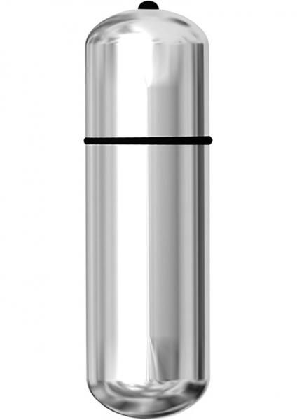 Ultimate 12in Waterproof Power Bullet Vibe Silver - The biggest bullet vibrator on the market, the Power Bullet 12in Massager is a full foot long and packs lots of power for full body massages with lots of stimulating vibration. So big that both hands are needed to hold it, the strong vibrations, centered near the tip, will work out any sort muscles and leave you blissful.