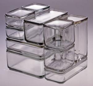 Kubus [Cube]   Wilhelm Wagenfeld Designer Vereinigte Lausitzer Glaswerke AG Manufacturer