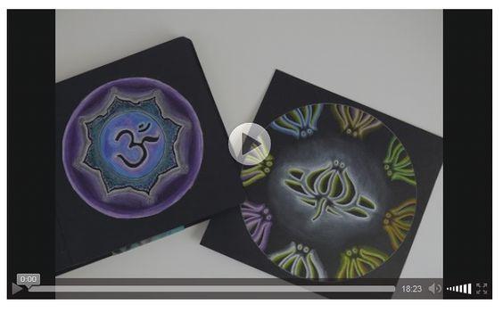 [VIDEO] Luminous Mandalas – Mandalas on Black Background | 100 Mandalas Challenge