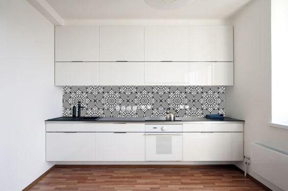 Behang BLOEM ZWART WIT | Collectie | kitchenwall