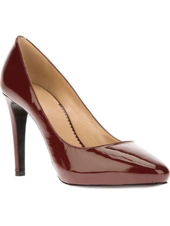 EMPORIO ARMANI almond toe pump - on Vein - getvein.com