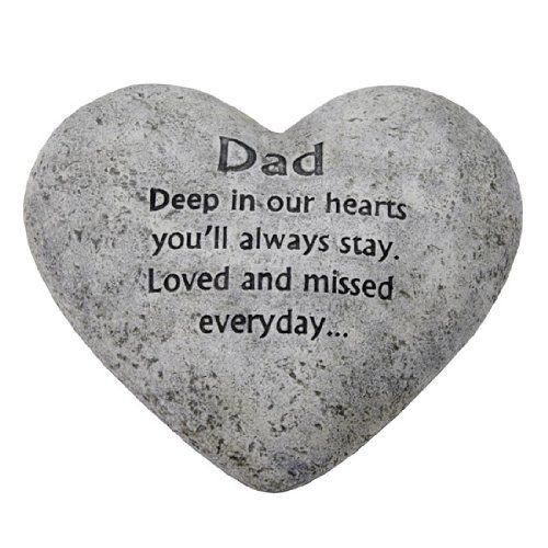 details about in loving memory graveside heart plaque stone dad grave memorial dads my dad. Black Bedroom Furniture Sets. Home Design Ideas