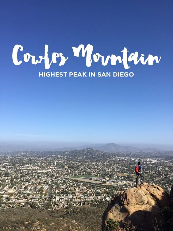 Cowles Mountain Hike (Most Popular Hike / the Highest Peak in San Diego).: