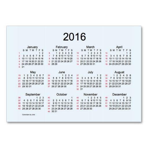 Weeks  Mini Calendar By Janz Postcard  Pin Your Work
