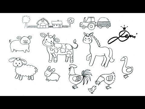 Bauernhof Zeichnen Ganz Einfach Tiere Schnell Malen Bauernhoftiere Zum Ausmalen Fur Kinder Youtube Ausmalen Fur Kinder Tiergemalde Ausmalen