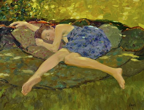 Ballando Light di David Hettinger Olio ~ 14 x 18 pollici