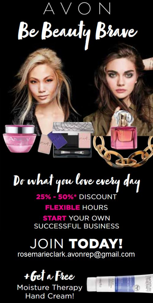 Avon is looking for women who are Beauty Brave to give them the opportunity to do what they love every day. When you say YES to my  invitation, you will enjoy the benefits of having your own business and earn as much as your ambition. PLUS, you get a free hand cream to try!: