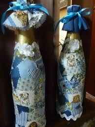 Resultado de imagen para garrafas decoradas com patchwork