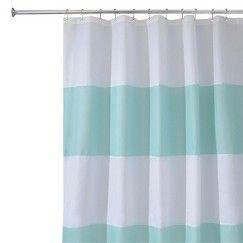 InterDesign Zeno Shower Curtain - Blue/White