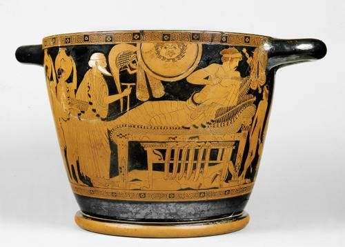 Image result for ancient greek bed vase