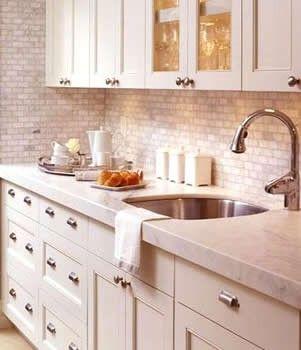 Peel and stick glass tile backsplash kit comes with for Easy kitchen backsplash kits