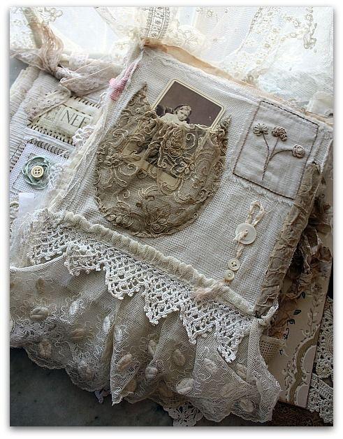 lace handmade journal