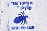 Bedminster Street Art:  This town is infested with Po-Lice