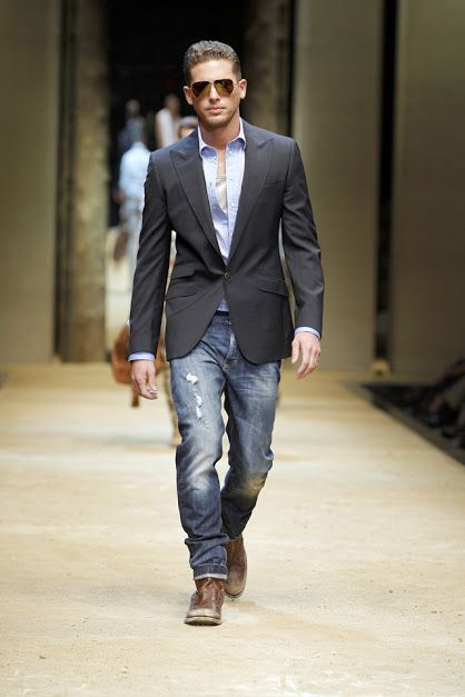 black suit jacket and jeans | Mens Fashion ✩ Casual | Pinterest