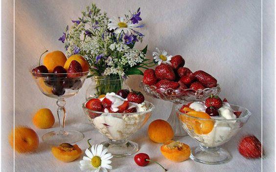 Flores y fruta