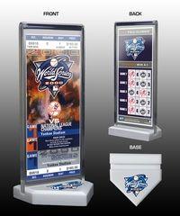 2000 World Series Commemorative Ticket Desktop Display - New York Yankees