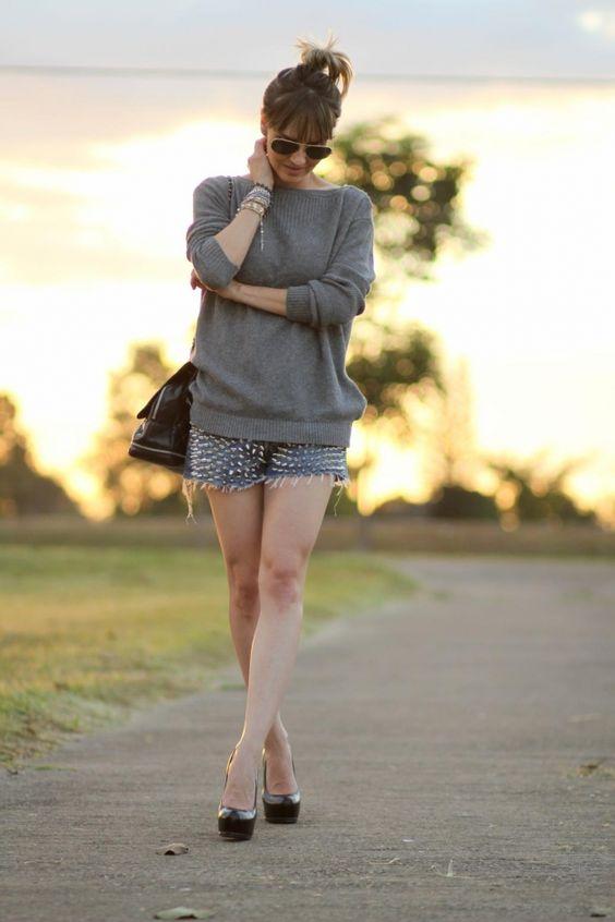 Shorts + Blusinha ampla