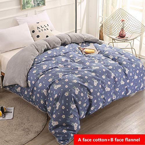 Zy Dd Thickening Coral Fleece Duvet Cover Single Piece Cotton Flannel Quilt Cover Single Double Sided Cotton Reve Duvet Cover Sets Reversible Quilt Quilt Cover