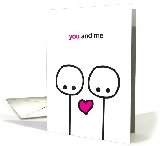 Love - You and Me Stick Figures card (873719) by anke panke