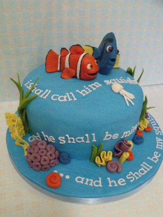 nemo and dory squishy cake ! Finding Nemo Cakes Pinterest Cakes