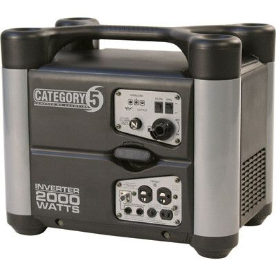 Category 5 Portable Inverter Generator - 2000 Watt, CARB-Compliant, Model# 73537i