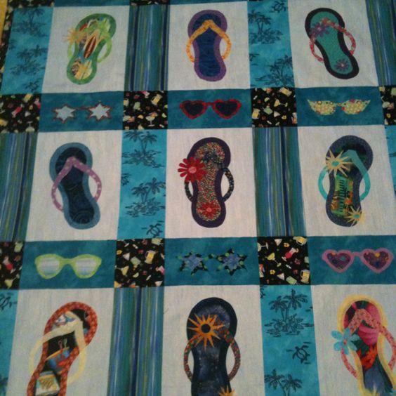 3-D flip flop quilt