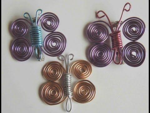 Como hacer una mariposa con alambre. Butterfly wire. - YouTube