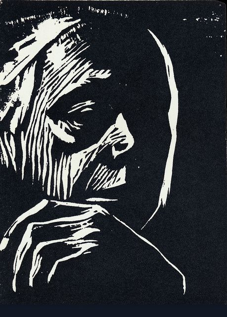 Käthe Kollwitz, woodcut by paonia, via Flickr: