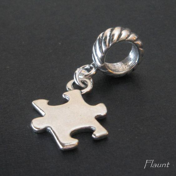 Autism Charms For Pandora Bracelets: Baby Boy Charm Sterling Silver European Bracelet, Son Bead