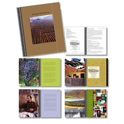 This all-in-one wine journal has everything you need to preserve wine labels, notes and other travel memories.