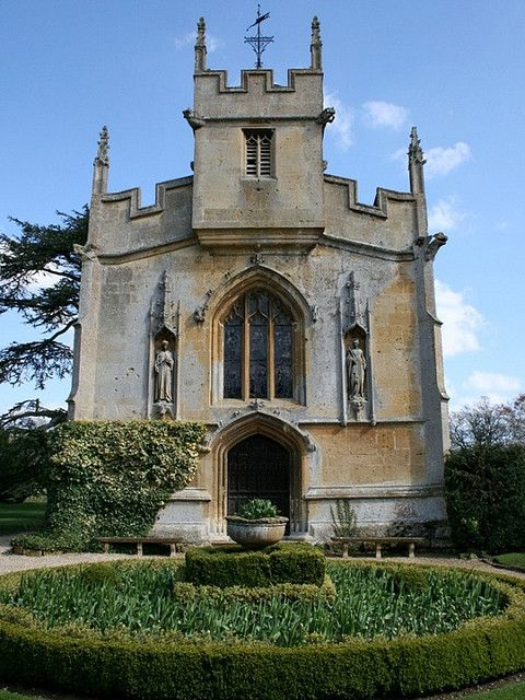 Sudeley Castle is a castle located near Winchcombe, Gloucestershire, England. The present structure was built in the 15th century and may have been on the site of a 12th-century castle