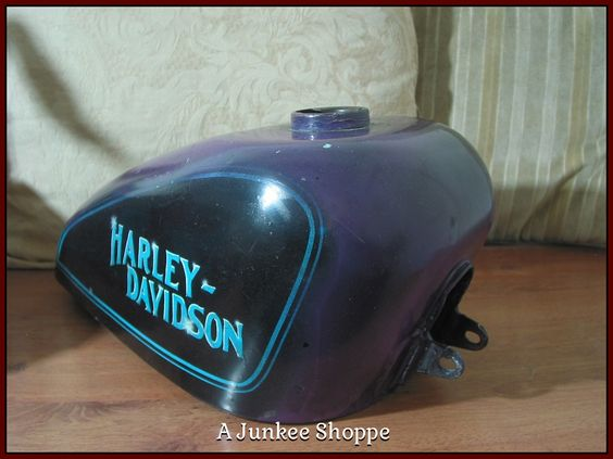 HARLEY DAVIDSON 1952 Thru 1970 Sportster Motorcycle Center Fill Gas Tank Used Junk 969  http://ajunkeeshoppe.blogspot.com/