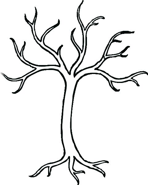 Tree Trunk Coloring Page Luxury Tree Template Printable Clipart Best Tree Coloring Page Coloring Pages Bare Tree