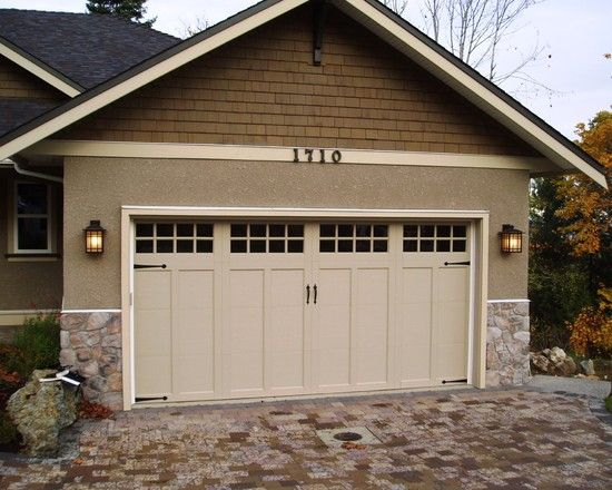 North Central Doors we installed. | Aker Doors - Brown Carriage ...