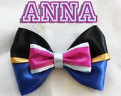 Anna from Frozen inspired Disney Bow!
