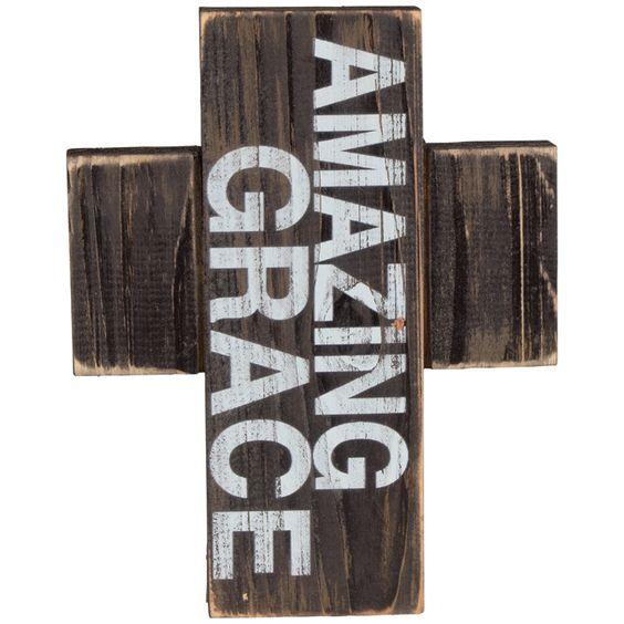 """Amazing Grace"" Pedestal Cross - Hopes Mini"