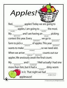 Free Fall Mad Libs for Kids #homeschool #printables