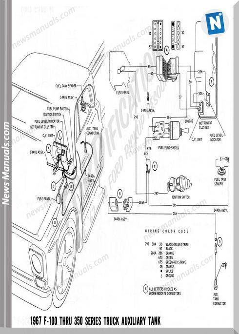 Ford F100 1967 Electric Diagram Ford Truck Diagram Technical Drawing