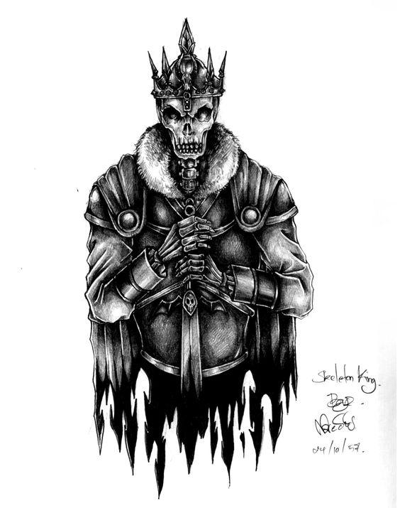 Skeleton king drawing pinterest skeletons and king for Skeleton king tattoo