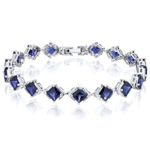 Peora Com Blue Sapphire Bracelet Sterling Silver Princess Shape 12 Carats Sb3010 119 99 In 2020 Blue Sapphire Bracelet Sapphire Bracelet Sterling Silver Bracelets