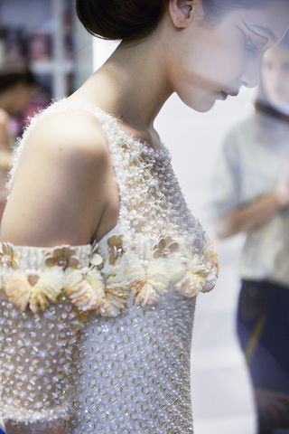 Chanel haute couture printemps-été 2016 - backstage