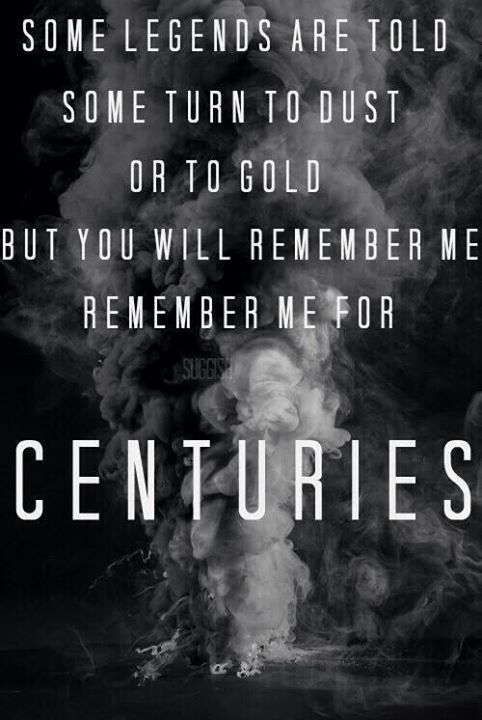 I will remember PJO/HOO FOR CENTURIES!!!