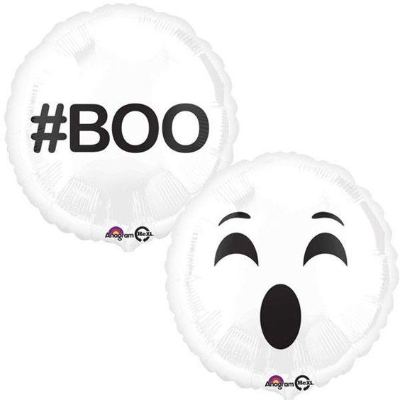 "Halloween #Boo Ghost Emoji 18"" Foil Balloon"