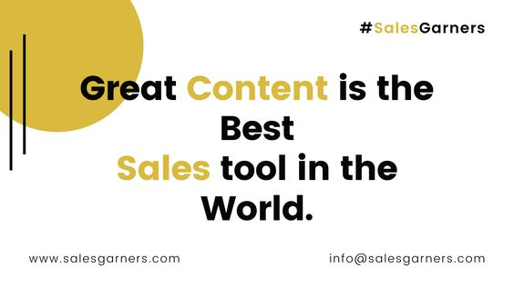 Great Content Is The Best Sales Tool In The World Www