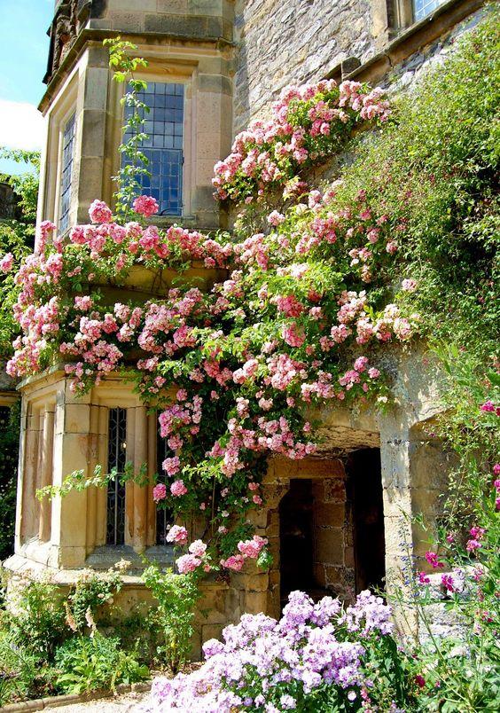 Casas de campo rosas and rosas trepadeiras on pinterest - Casas en roses ...